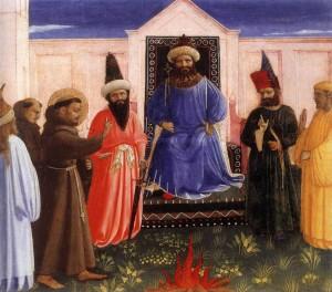 Beato-Angelico-San-Francesco-davanti-al-sultano-Lindenau-Museum-Altenburg
