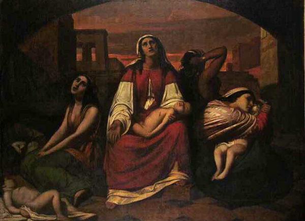 Cazès-Rachele-piange-i-suoi-figli